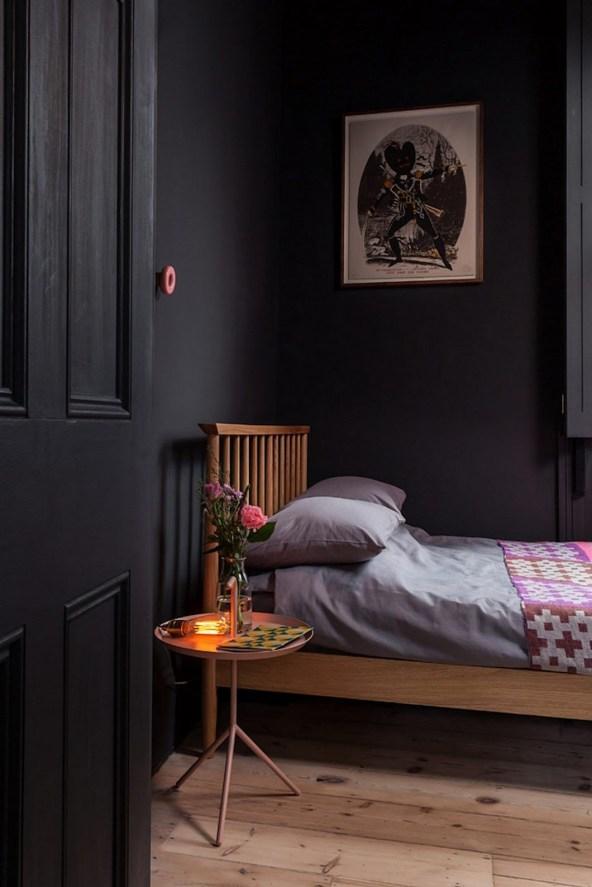 Charcoal Bedroom with Fushica Blanket