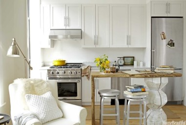 pinterest cool wood island work space in white kitchen