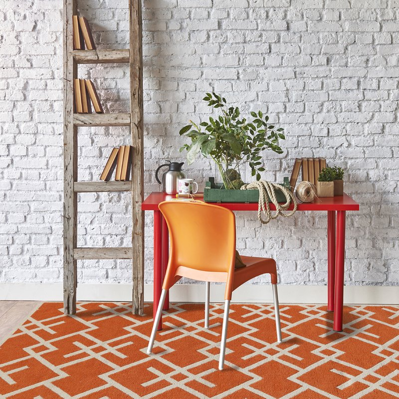 Wayfair Zaran+Orange+Area+Rug