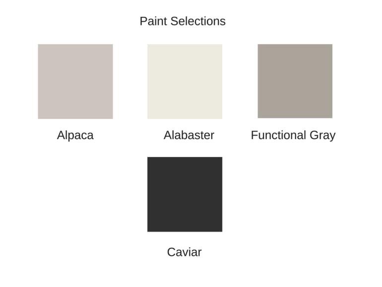 Paint Sample Board Created By Laurel Bledsoe Design