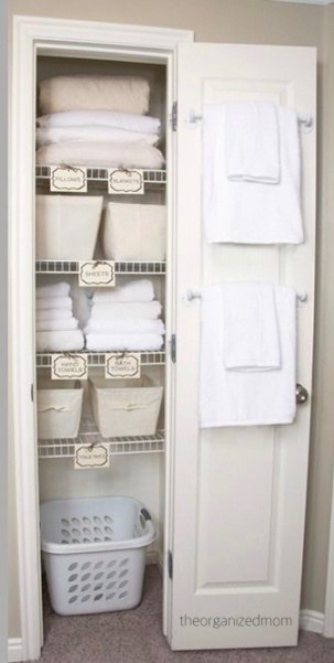 the organized mom bath linen closet