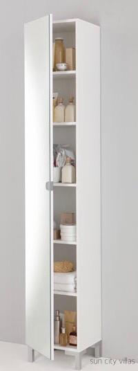 suncityvillas tall mirrored door bath cabinet