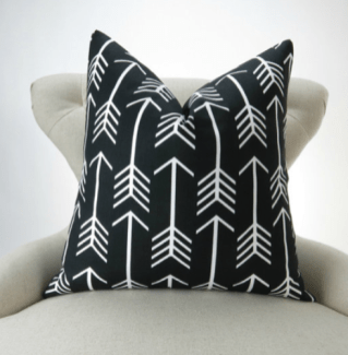 Black African Print Pillow