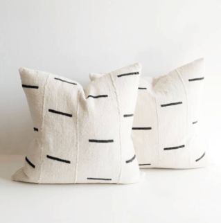 White Dash Pillows