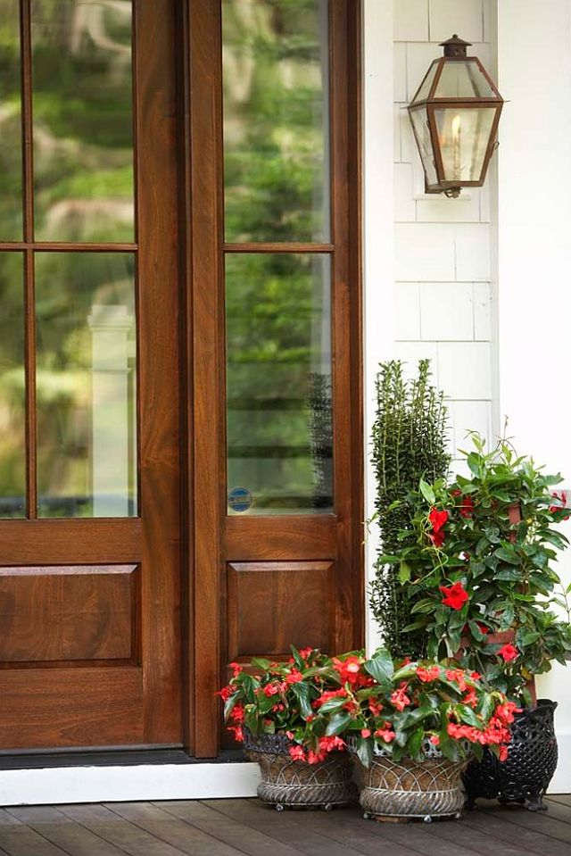 Stained Wood Entry Door -via Pinterest