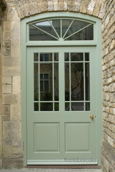 Mossy and minty greens give all homes a European flair. -via frontdoorcolor