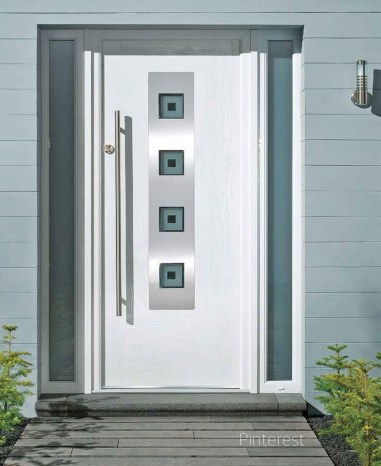 Modern decor and white doors can't be beat. via Pinterest