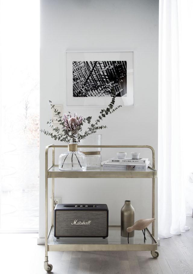 My Scandinavian Home- Styled Barcart