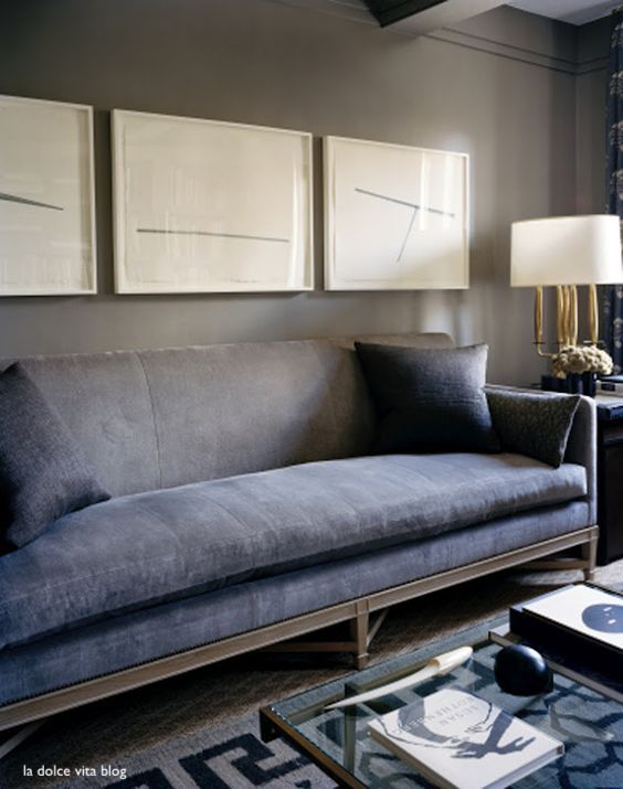 la dolce vita dusty blue sofa with modern ivory art classic and cozy