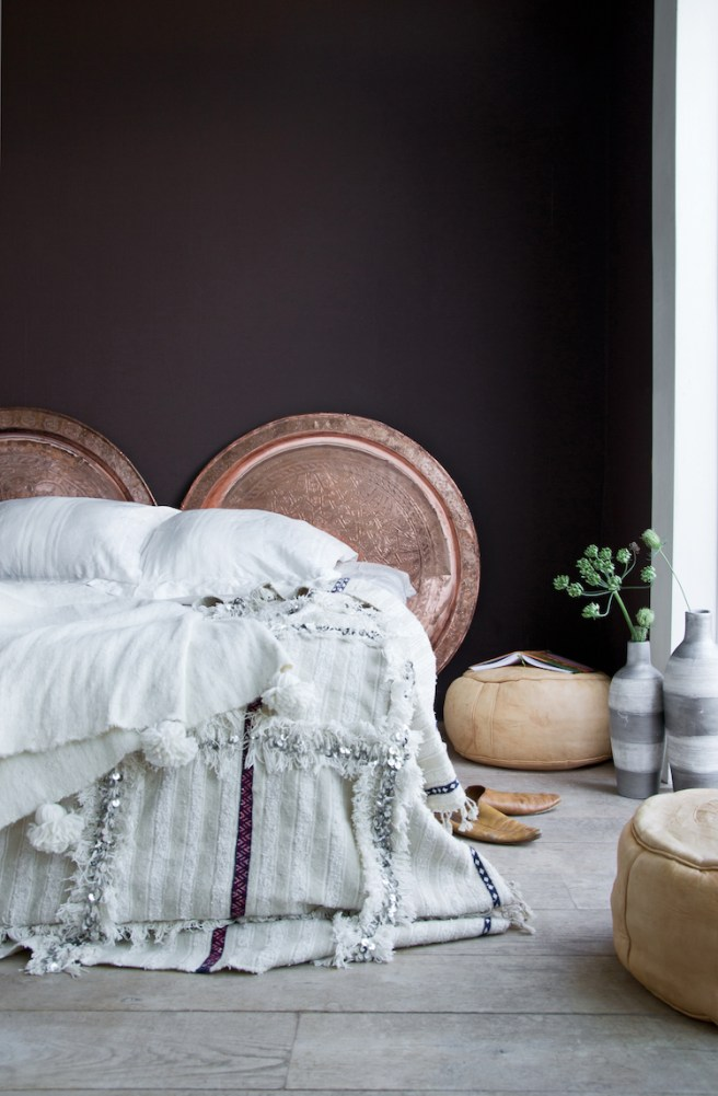 My Scandinavian Home- Fluffy Bed Linens and Morrocan Headboard