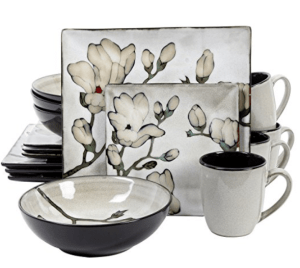 Look At This Gibson Clarreta Muted Dinnerware -Soft and Bold at the Same Time!