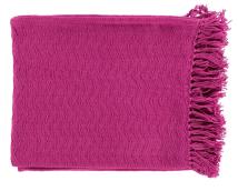 Hot Pink Cotton Throw Can Make A Neutral Decor Pop!