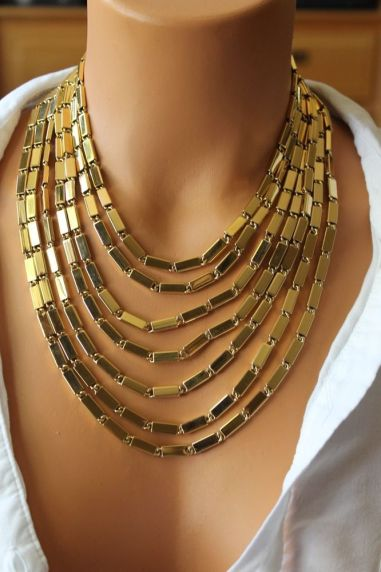 Gold Tiered Necklace