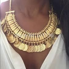 Poshmark Gold Coin Statement Necklace