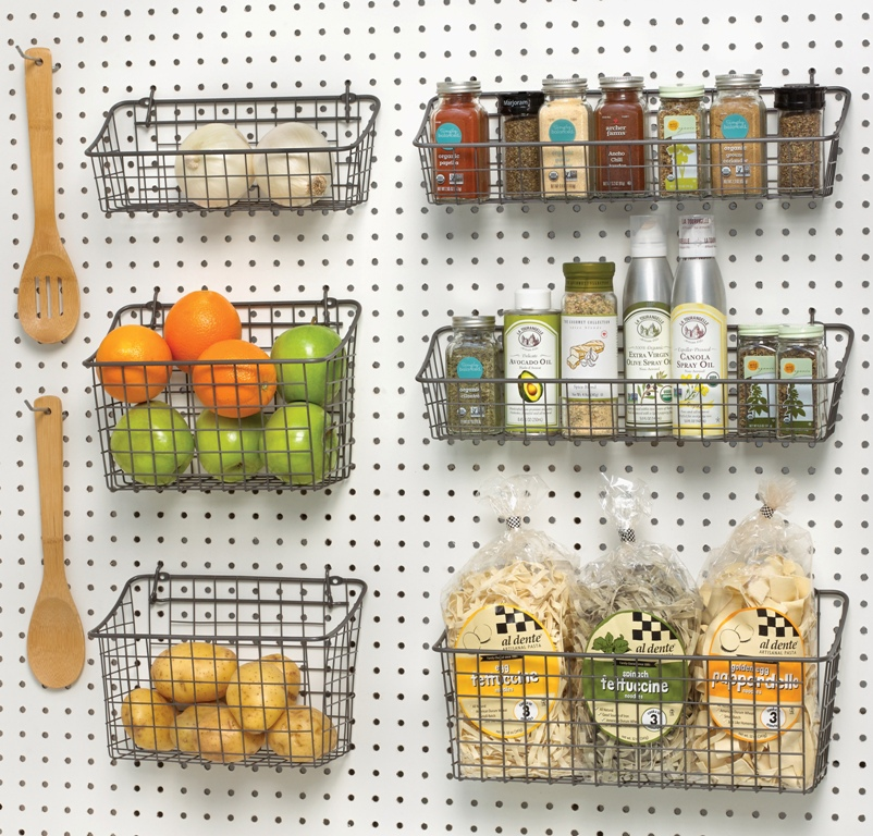 Peg Board Baskets Storage
