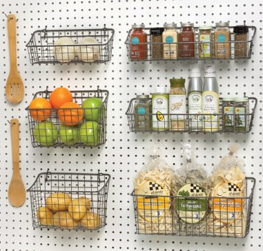 Peg Board Baskets Storage