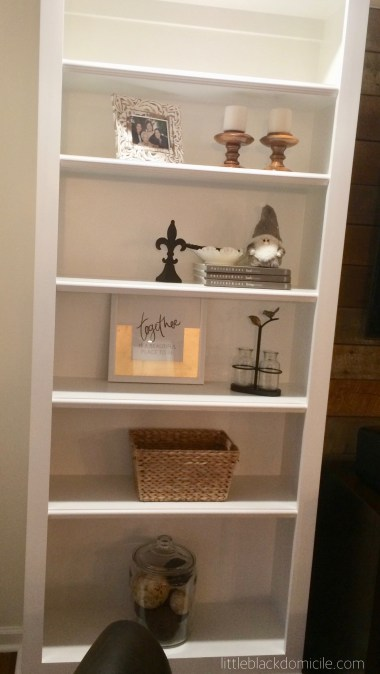 littleblackdomicile styling open bookcases