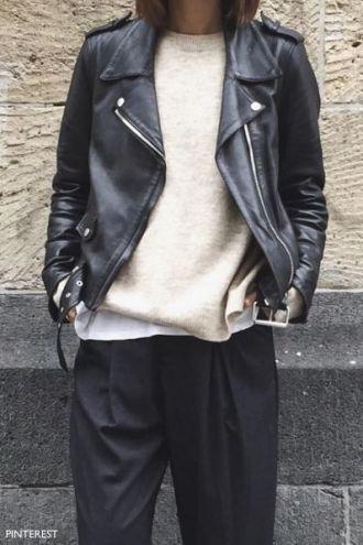 pinterest black leather bomber jacket