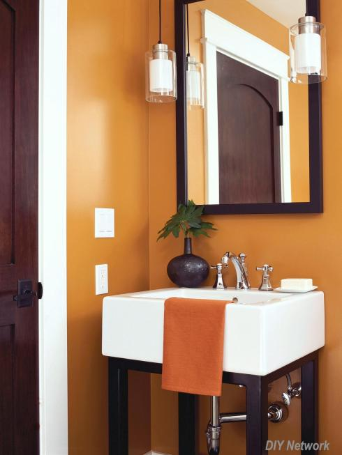 DIY Network Orange Wall Bath