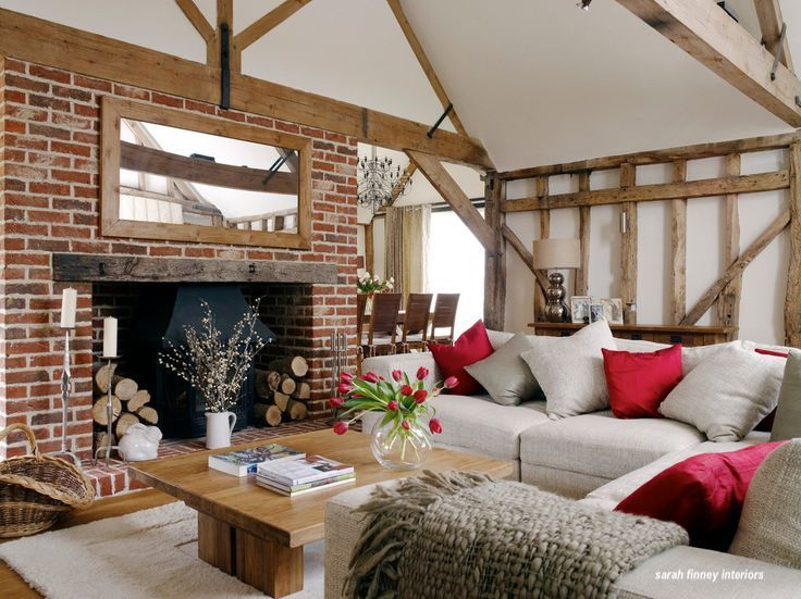 sarah finned interiors barn conversion with red accents