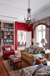 house&garden red living room