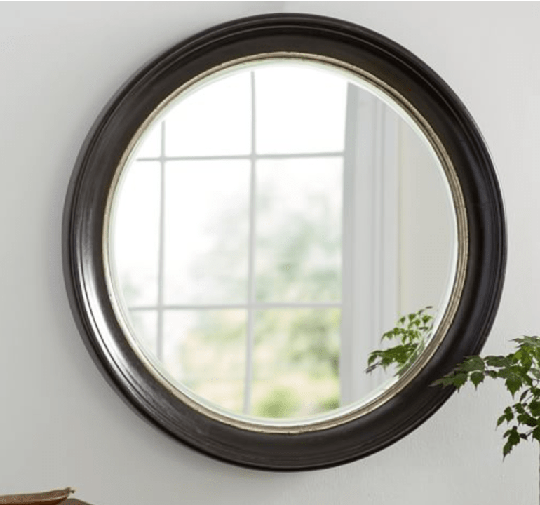 Pottery Barn Brussel Round Wood Mirror