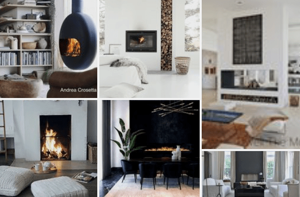 littleblackdomicile fireplace pinterest board