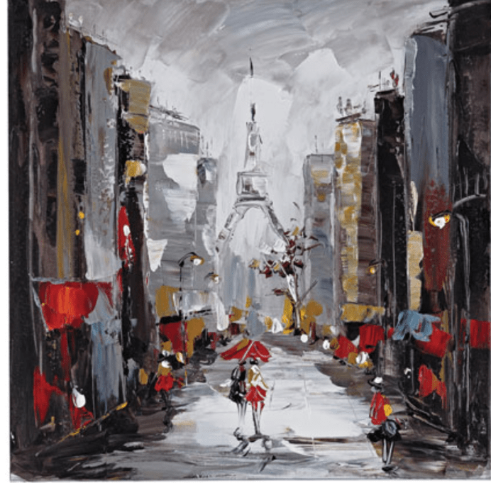Bellacor Paris Scene Art Canvas