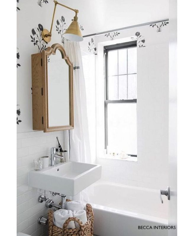 Becca Interiors Wall Mounted Sink with Single Level Chrome Faucet