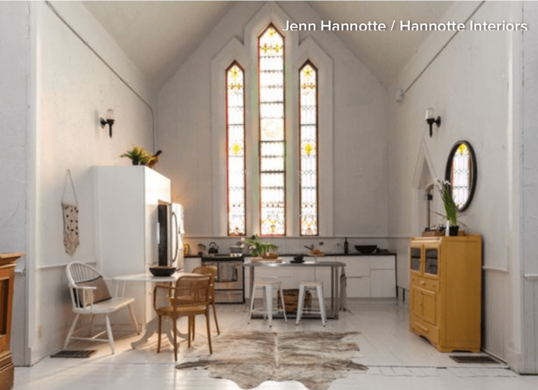 Converted Church To A Home Design by Jenn Hannotte  Photos by Lauren Kolyn