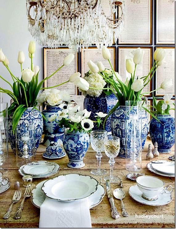 VerandaLisaLubyRyan-Chinese Blue Spring Table Top