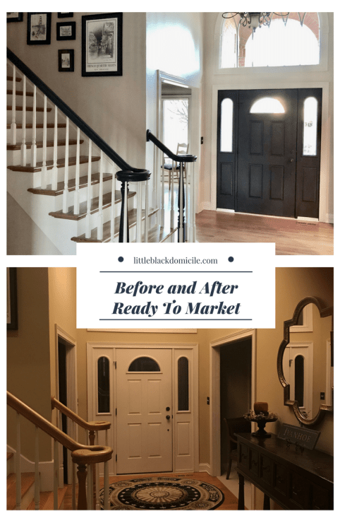 littleblackdomicile.com-before and after- foyer