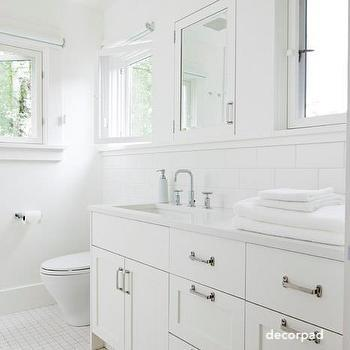 decor pad white bathroom-white tile-white cabinets-white countertop-white walls