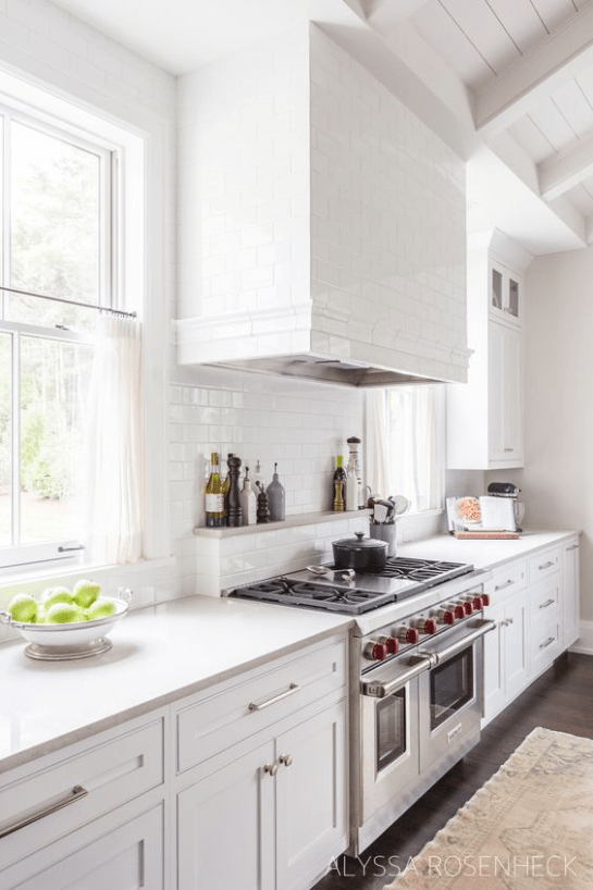 alyssarosenheck subway tile range hood chimney