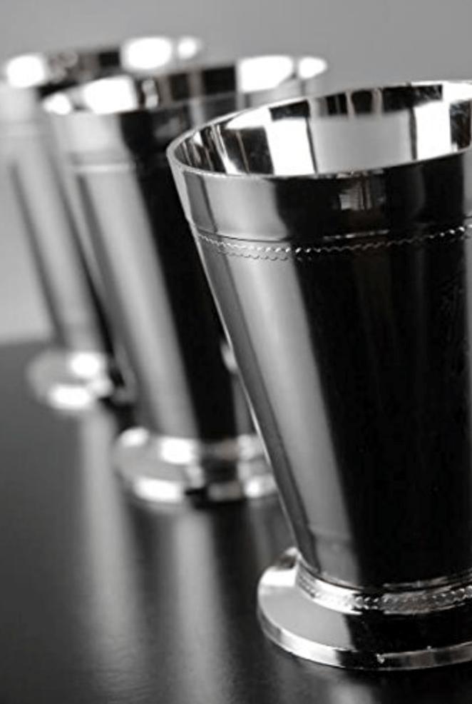 "Plastic ""Silver"" Mint Julep Cups"