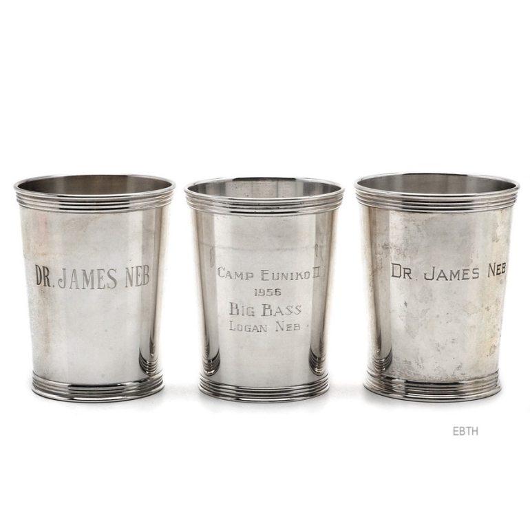 EBTH Silver Mint Julep Cups