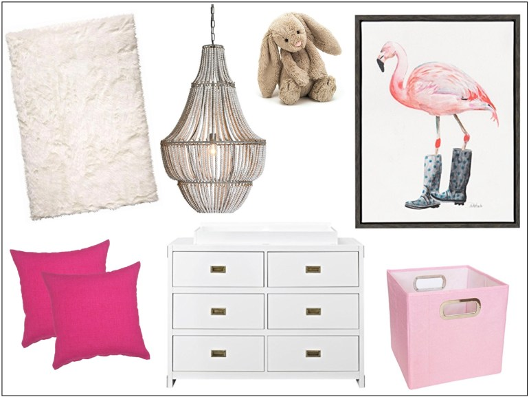 littleblackdomicile pretty in pink nursery furnishings