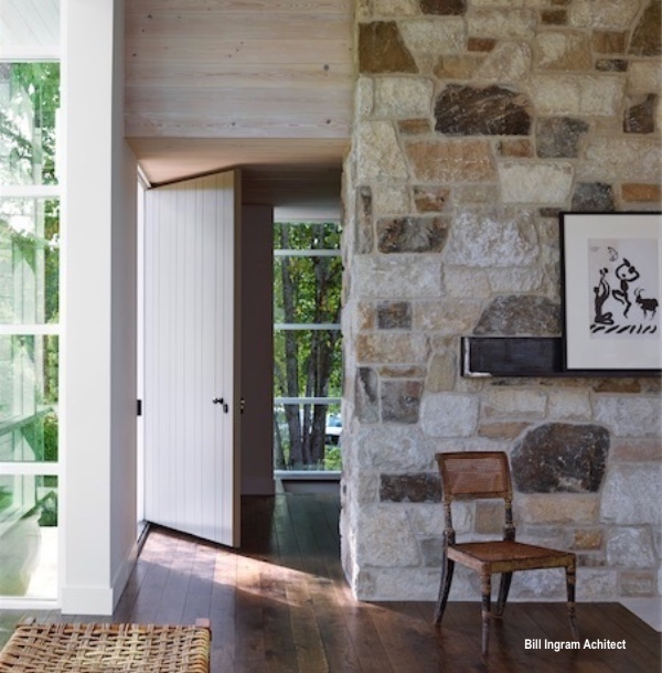 Billy Ingram Architect Entry with Stone Wall