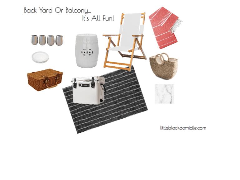 littleblackdomicile - back yard or balcony - virtual design concept board