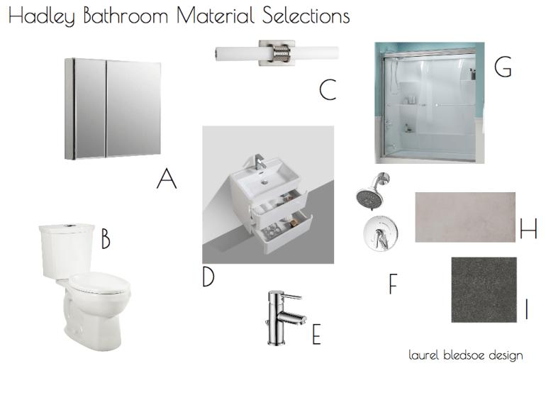 laurel bledsoe design- virtual interior design- bathroom - little black domicile