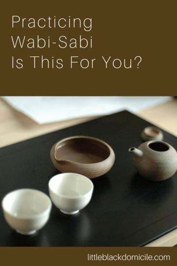 The Wabi-Sabi Kitchen-Little Black Domicile