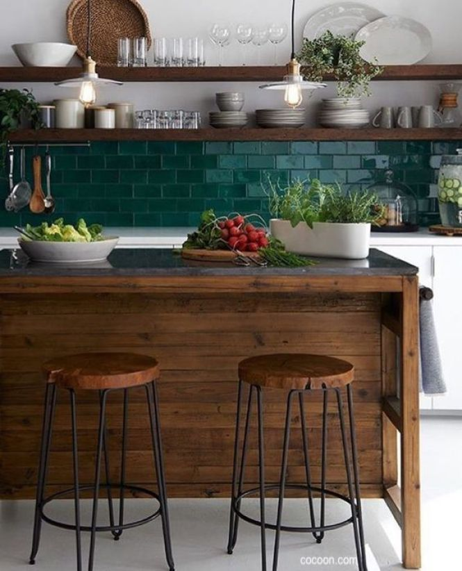cocoon.com-kitchen-green-wall-tile-splash