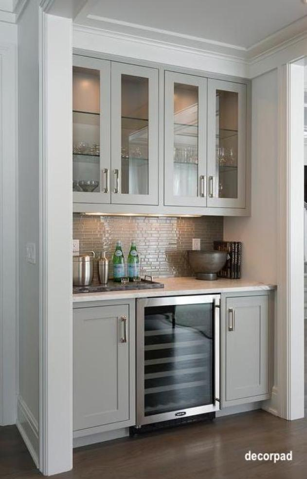 decorpad-gray-living-room-bar-linear-glass-tile-backsplash-glass-wine-fridge
