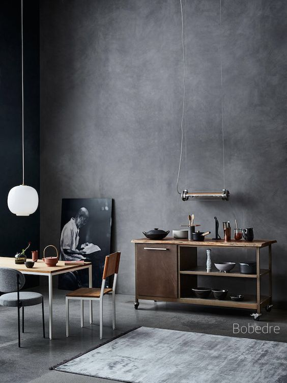 bobedre-concrete-wall-dishes-in-cabinet