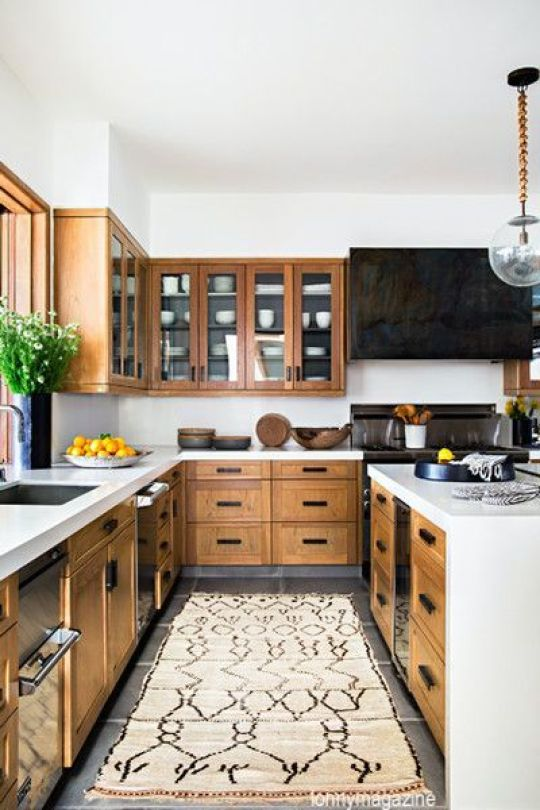 lonnymagazine-stained-cabinets-black-range-hood