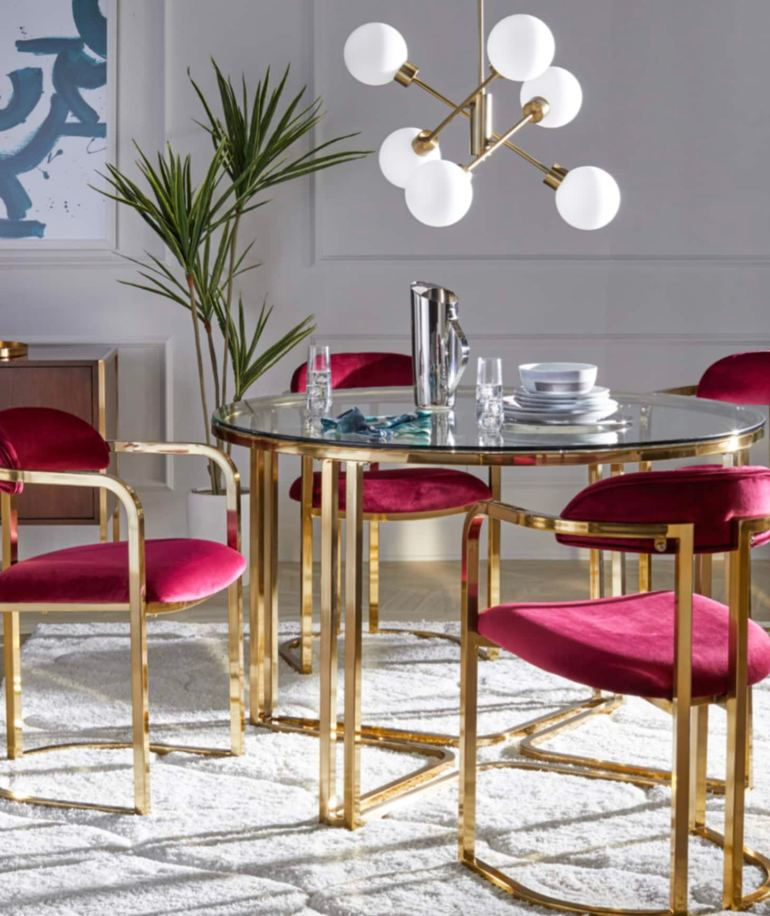 walmart-furnishings-modrn-brass-furniture-velvet-dining-room- chairs