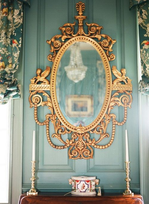 pinterest-gold-mirror-crystal-chandelier