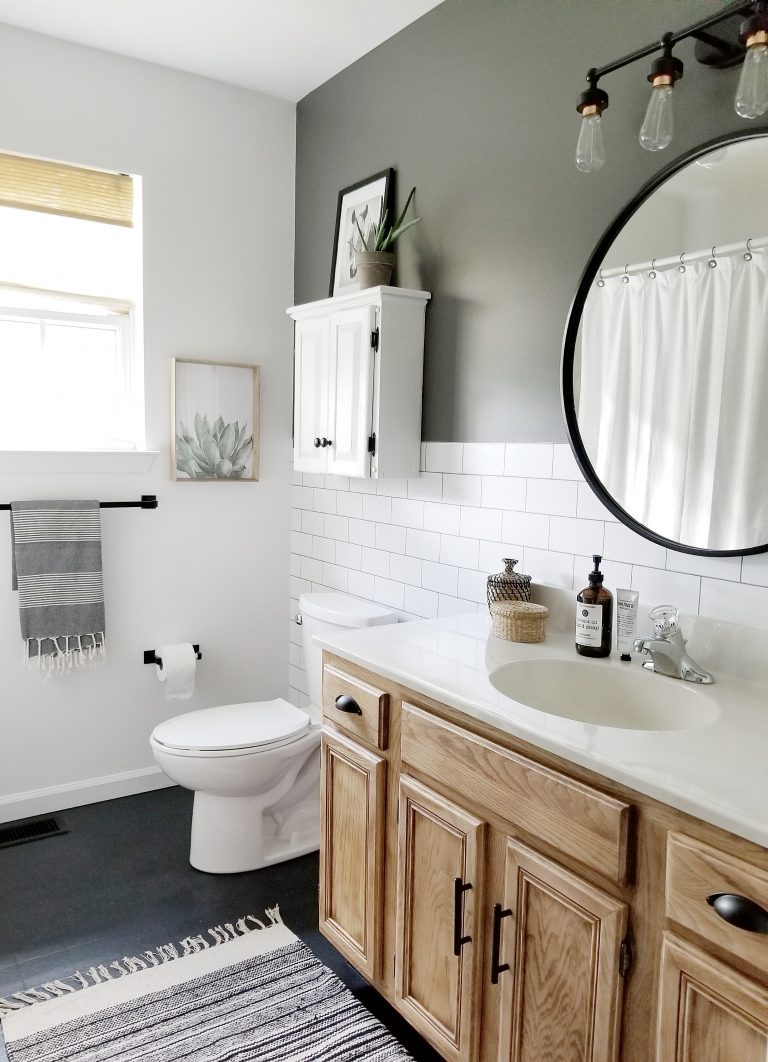 A $200 Bathroom Makeover…..