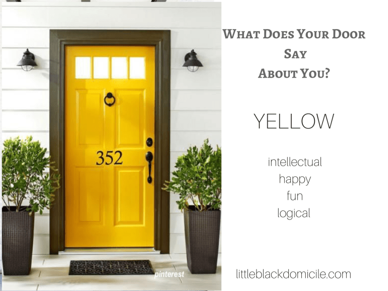 What does your door say about you? (dragged) 7