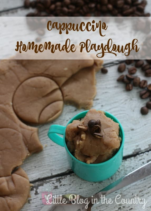 coffee homemade playdough